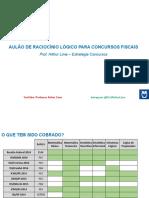 Aulão Raciocínio Lógico Fiscais - Arthur Lima