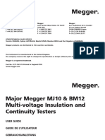 Megger MJ10 User Manual