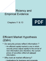 03. Market Efficiency and Empirical Evidence