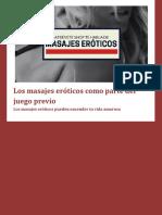 LOS MASAJES ERÓTICOS COMO PARTE DEL JUEGO PREVIO