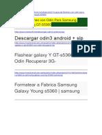 Guia de Flasheo Con Odin Para Samsung Galaxy Young GT-S5360