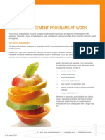 Weight Management Programs at Work