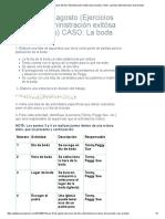 Tarea 16 de Agosto (Ejercicios Del Libro Administración Exitósa de Proyectos) CASO_ La Boda _ Administración de Proyectos