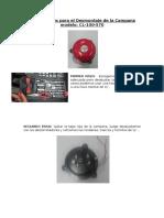 Instrucciones Para El Desmontaje de La Campana Modelo