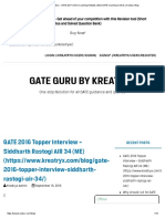 GATE Guru by Kreatryx - GATE 2017 Online Coaching Institutes _ Best GATE Coaching Centres _ Kreatryx Blog