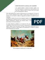 Actuación de Simon Bolivar en La Batalla de Carabobo