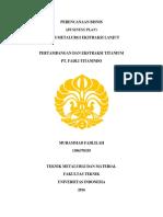Business Plan Muhammad Fadlilah 1306370335