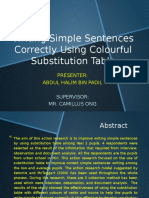 Writing Simple Sentences Correctly Using Colourful Substitution Table