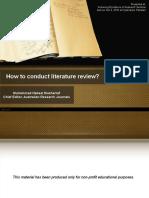 Literature Review Presentation - Nabeel