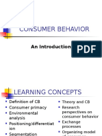 Inroduction to Consumer Behavior
