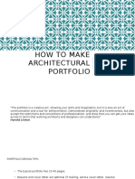 How to Make an Architectural Portfolio
