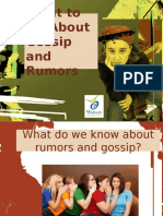 What to Do About Gossip and Rumors Facilitators Guide