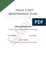 Attachment 4 - Sample Vehicle Fleet Maintenance Plan