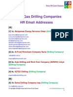Oil and Gas Driling Companies HR Email Addresses