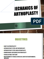 Biomechanics of Arthoplasty 1