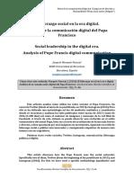 El liderazgo social en la era digital. Análisis de la comunicación digital del Papa Francisco.pdf