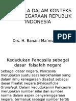 Pancasila Dalam Konteks Ketatanegaraan Republik Indonesia