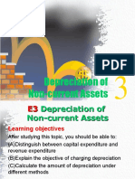E3 -- Depreciation of Non-current Assets