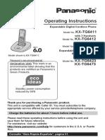 Manual Telefone Kx-tg6412
