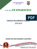 Plan de Desarrollo Municipal 2016 2019