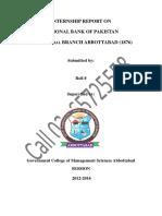 NBP Internship Report 2016 call 03365725558