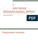 Sistem Penghantaran Sediaan Nasal Spray