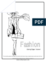 Fashion Coloring Pages Volume 1