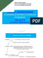 Capitolul 1 Economia Sistemul Siitntelor Economice