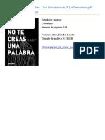 No Te Creas Una Palabra David Crow Id36686