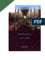 Steger Manfred - Neoliberalismo Una Introduccion Muy Corta
