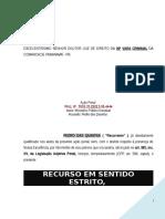 Modelo 517 Site Recurso Sentido Estrito Apelacao Intempestividade Intimacao PN188