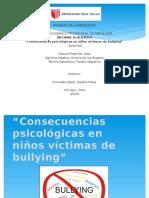 Consecuencias Psicológicas en Niños Víctimas de Bullying