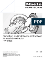 Miele Washer PW5065 Operating Instructions En