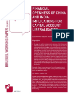 Financial Openness of China and India