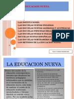 Tarea La Educacion Nueva Tany
