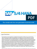 SAP S4HANA IT Simplification and Business Innovation-Richard P