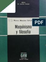 Maquinismo y Filosofía Pierre Maxime Schuhl 1937 Libro