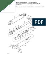 Backhoe Swing Cylinders%2c 3-1%2f4 Inch Inside Diameter