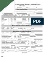Vigilancia Medica Epidemiologica Para Personal Expuesto a RPBI's