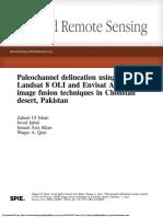 Paleochannel delineation using Landsat 8 OLI and Envisat ASAR image fusion techniques