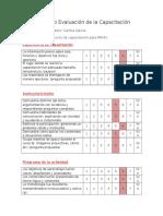 Formulario Evaluación de Capacitación CAMILA