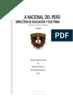 Sillabo desarrollado de  Derecho Penal I PNP