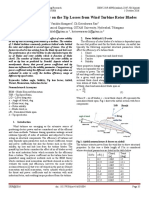 Effect of Rotor Solidity on the Tip Losses from Wind Turbine Rotor Blades