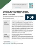 Decanulacion y Evaluacion de La Deglucion Del Paciente Traqueotomizado