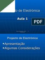 Projecto de eletronica