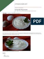 Ammachi-Garlic Mayonnaise _ Homemade Mayonnaise – Yummy Recipes