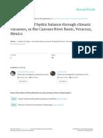 Estimación del balance hídrico-Mexico