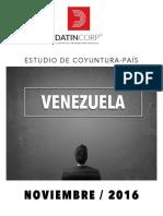 INFORME DE COYUNTURA PAÍS VENEZUELA - NOVIEMBRE 2016