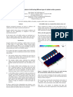 Non-linear Stability Analysis of Cells Having Different Types of Cathode Surface Geometry