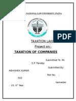 Taxation of Companies